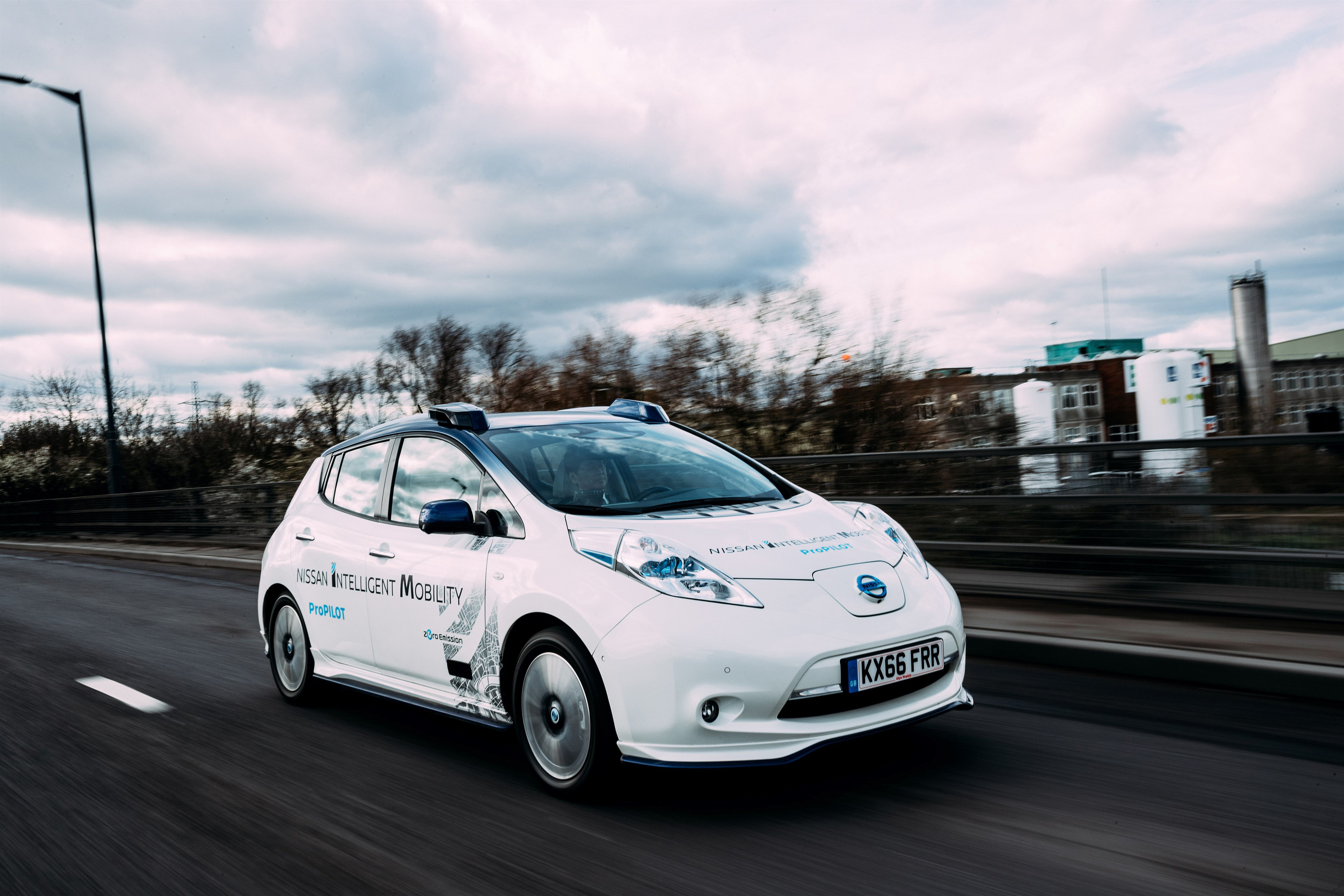 Nissan's autonomous drive demonstration event – London